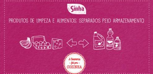 Produtos de limpeza e alimentos: separados pelo armazenamento
