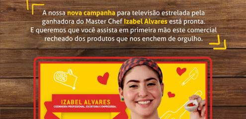 Clique e conheça o novo Vídeo Sinhá estrelado por Izabel Alves